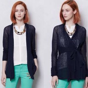 Anthropologie knitted & knotted pointelle Cardigan
